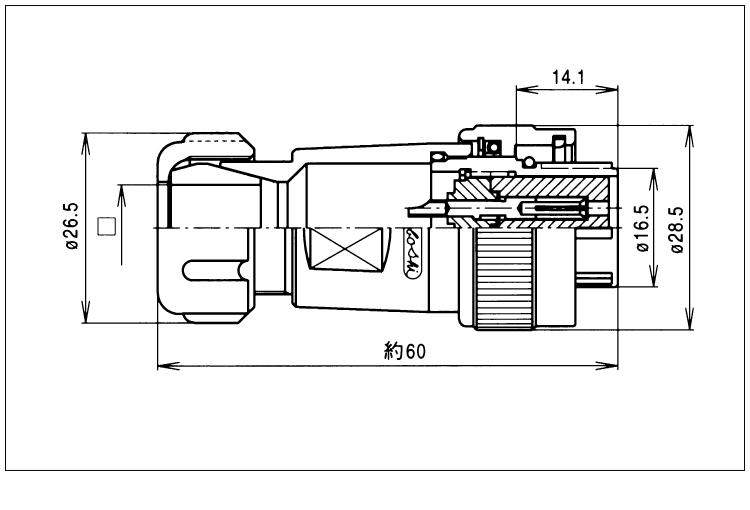 外部防水ACコンセント画像