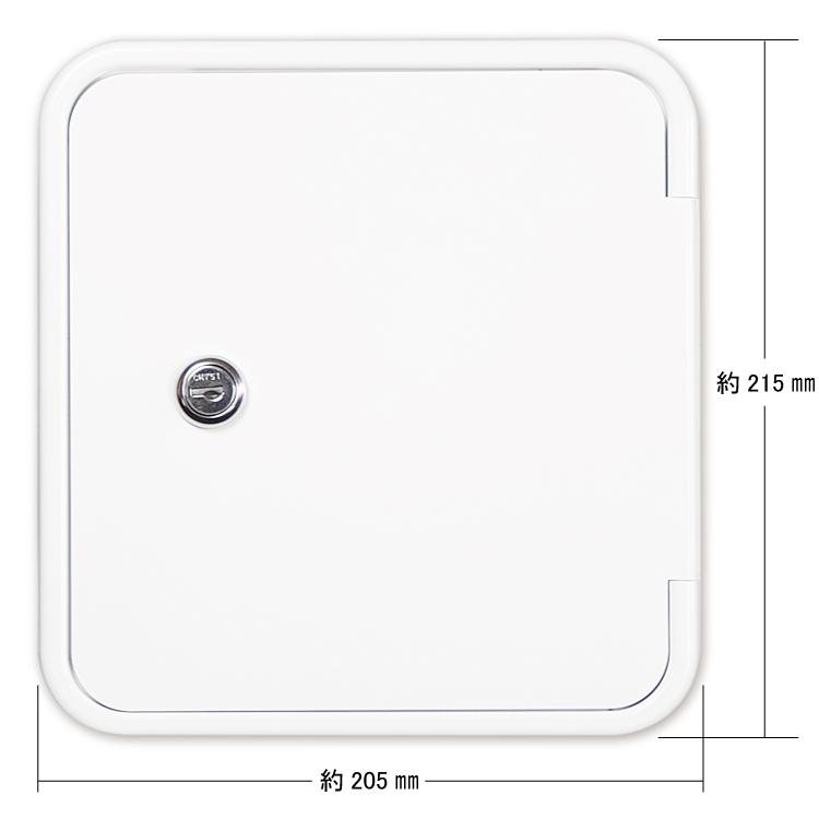 ツバ付ガスハッチ(キー付) #0554-BK画像
