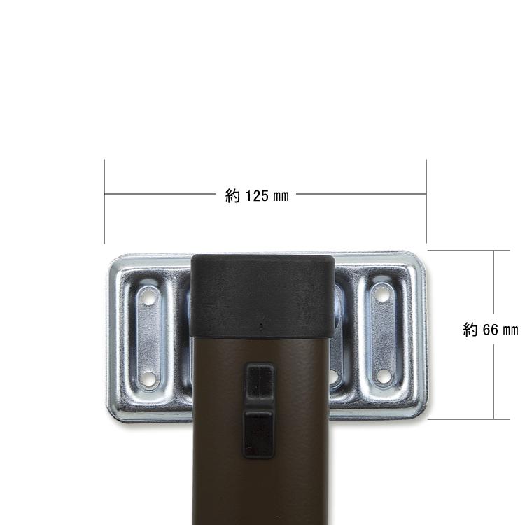 テーブルサポートピラー 675mm グレー